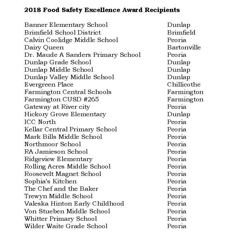 2-19 Food safety excellence awards